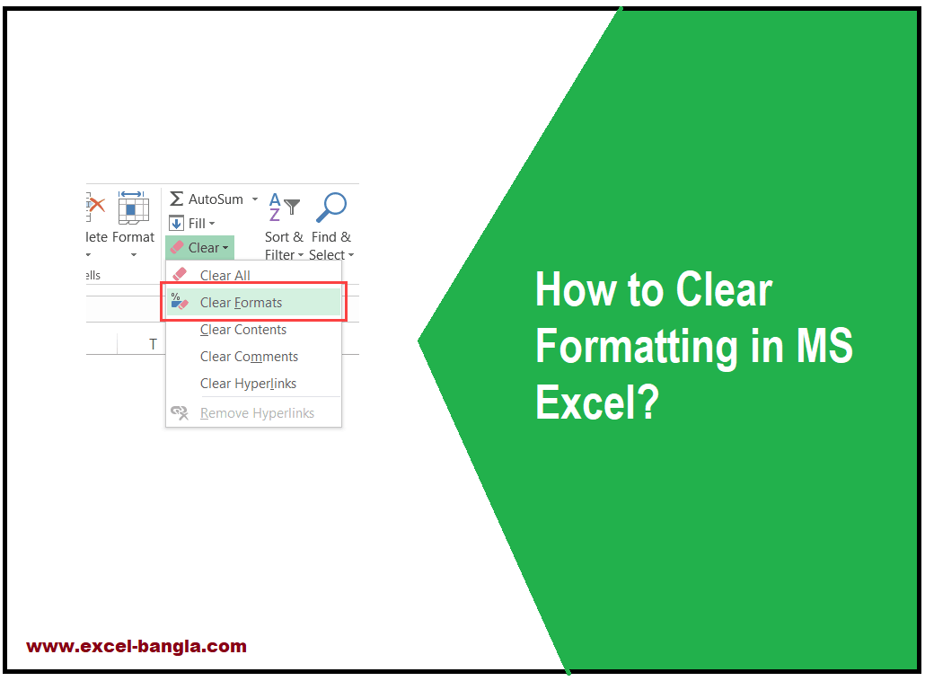 Clear Formatting in excel