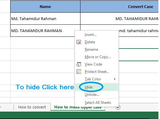 how to hide excel worksheet